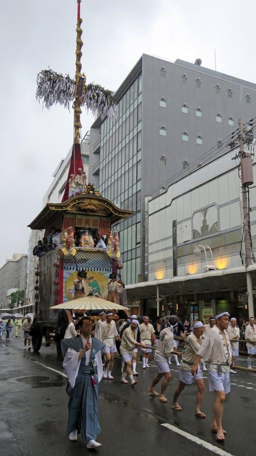 Gion Matsuri em Kyoto fotografia de stock