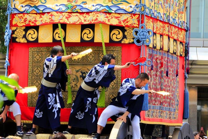 Gion Matsuri em Kyoto, em julho de 2014 imagem de stock