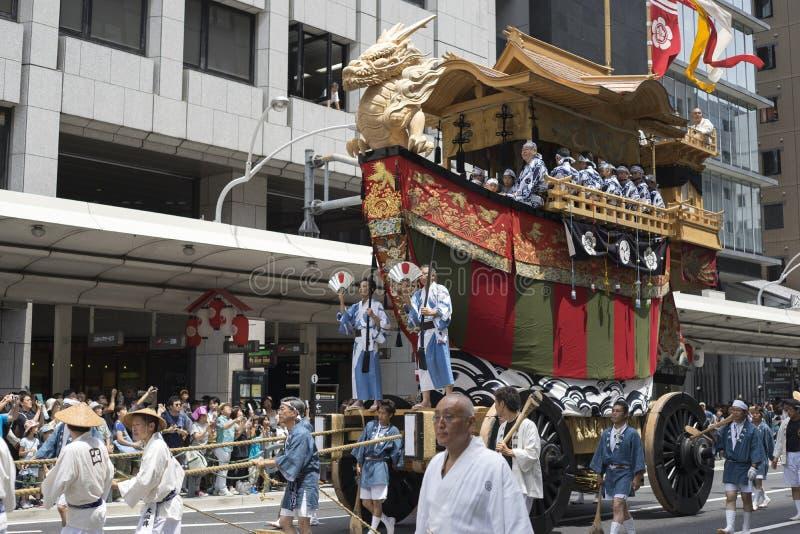 Gion Matsuri festival 10 arkivfoton