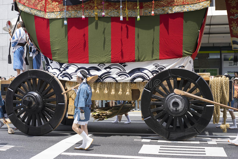 Gion Matsuri festival 12 royaltyfri foto