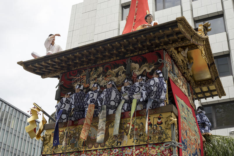 Gion Matsuri festival 7 arkivbild