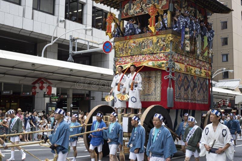 Gion Matsuri festival 6 arkivbilder