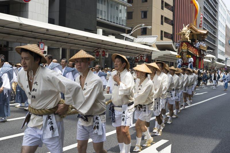 Gion Matsuri festival 9 arkivfoto