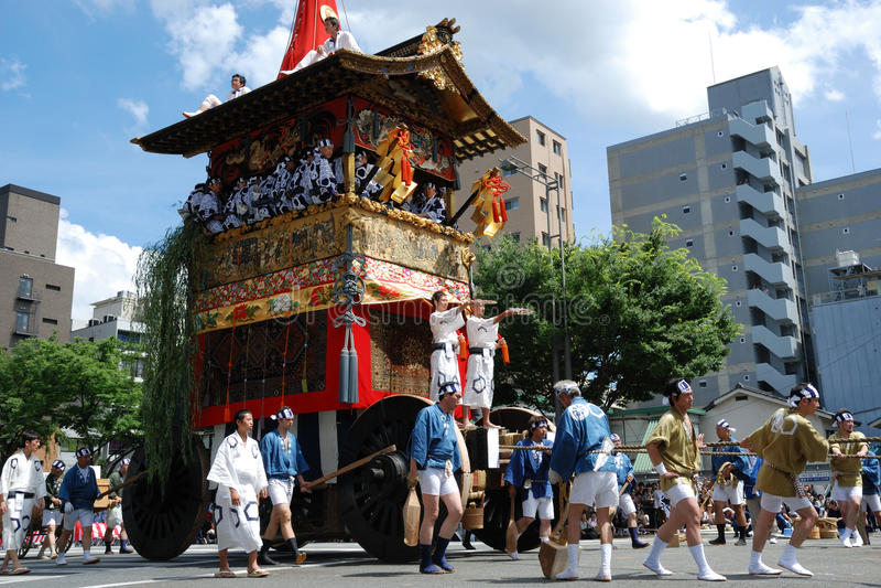 Gion Matsuri/festival o mais famoso tradicional dentro fotografia de stock