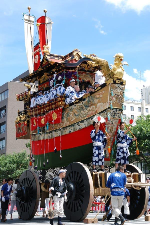 Gion Matsuri/festival più famoso tradizionale dentro immagini stock libere da diritti