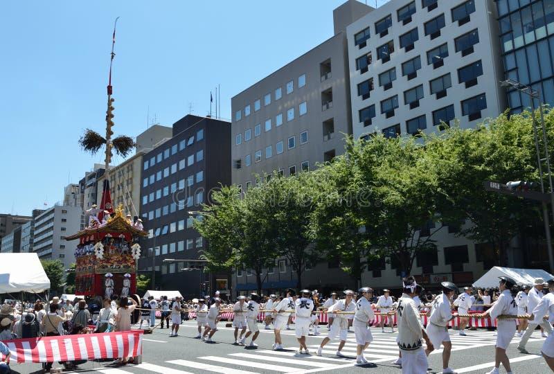 Gion Matsuri festival in summer, Kyoto Japan royalty free stock photography