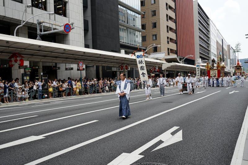 Gion Matsuri ståtar 1 royaltyfri fotografi