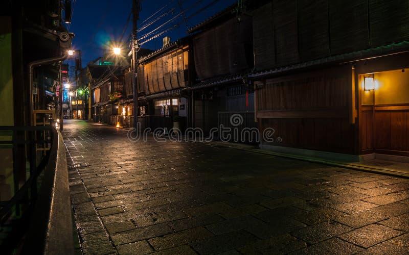 Gion Old Street i Kyoto royaltyfri fotografi