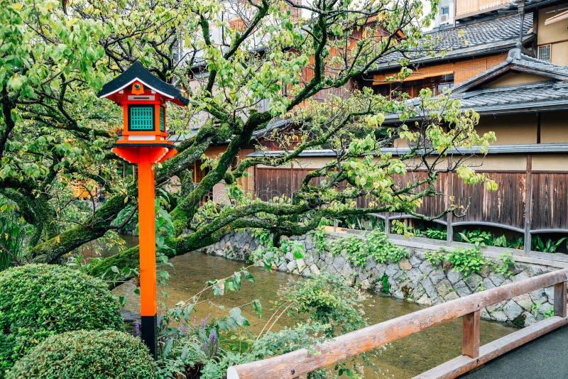 Gion shirakawa Japanese traditional street in Kyoto, Japan stock photo