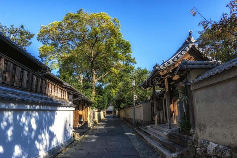 Gion street in the morning. Famous gion street in kyoto taken early in the morning. Kyoto, Japan. Taken on November 1st 2018 royalty free stock images