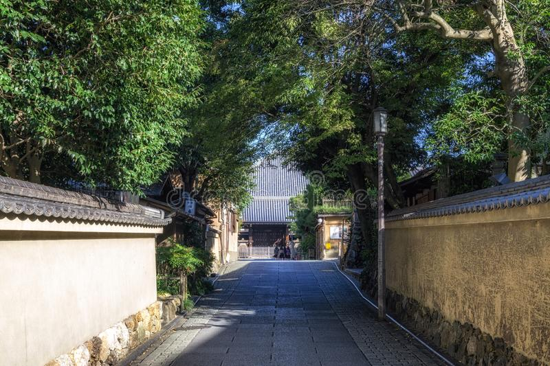 Gion street in the morning. Famous gion street in kyoto taken early in the morning. Kyoto, Japan. Taken on November 1st 2018 royalty free stock photos