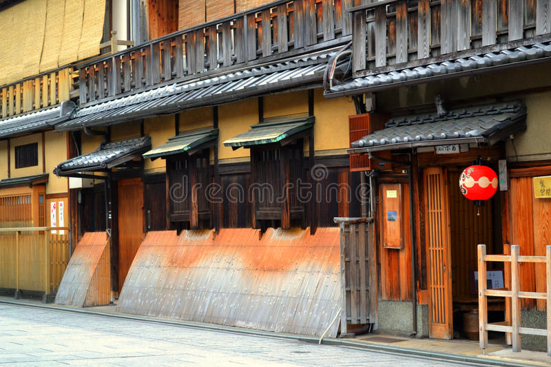 Gion wooden house stock photo