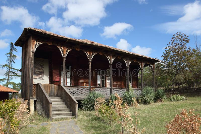The house in Tbilisi Open Air Museum of Ethnography, Georgia. The Giorgi Chitaia Open Air Museum of Ethnography is an open-air museum in Tbilisi, Georgia royalty free stock images