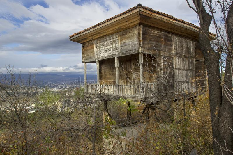 The house in Tbilisi Open Air Museum of Ethnography, Georgia. The Giorgi Chitaia Open Air Museum of Ethnography is an open-air museum in Tbilisi, Georgia royalty free stock photography