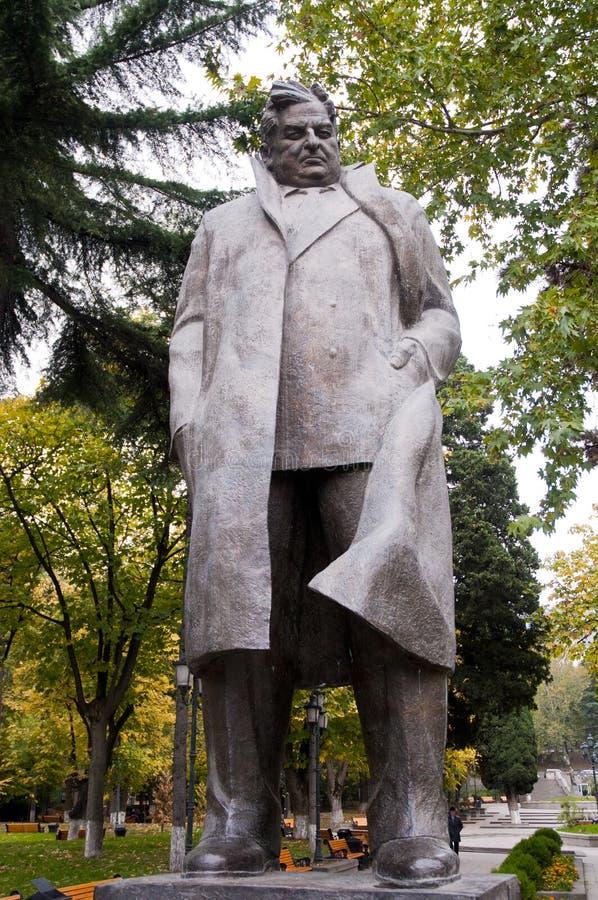 Giorgi Leonidze Statue in Park van de Beroemde Georgische Pot van Tbilisi in Georgië royalty-vrije stock fotografie