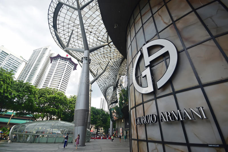 Giorgio Armani är ett italienskt modehus som grundas av Giorgio Armani royaltyfria bilder