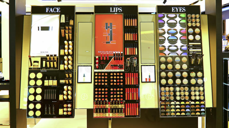 Giorgio armani cosmetics counter stock photo