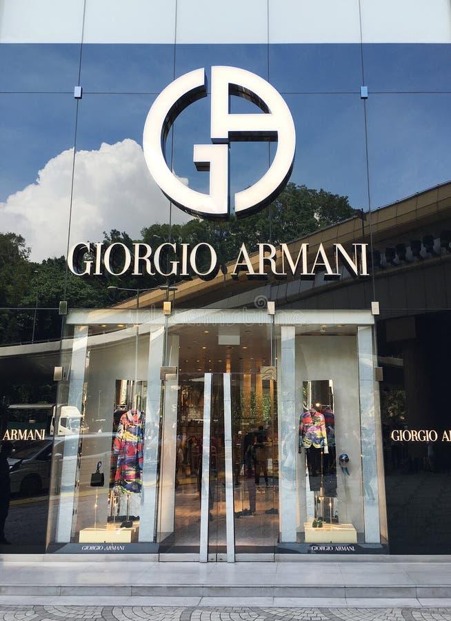 Giorgio Armani dans la route de canton, Hong Kong photo stock