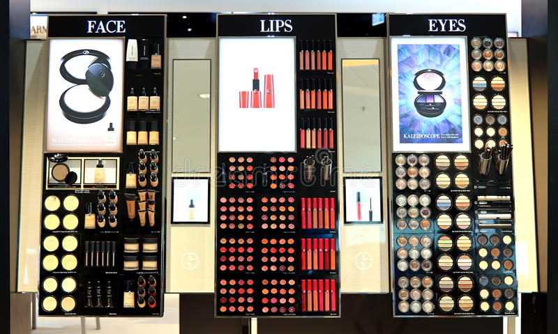 Giorgio armani fall 2013 cosmetics royalty free stock images