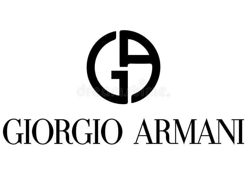 Giorgio Armani Logo royalty-vrije illustratie