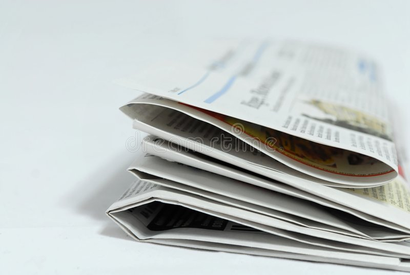Giornale fotografia stock libera da diritti