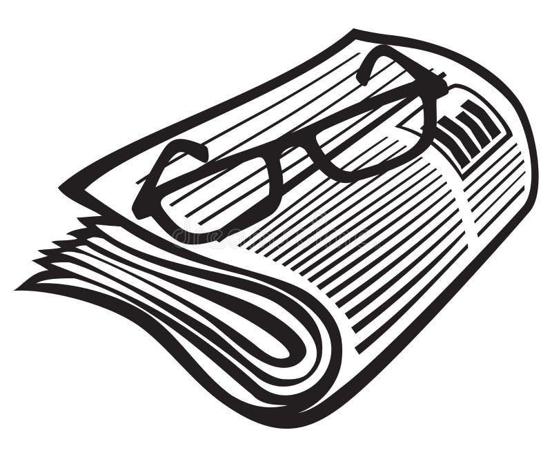 Giornale illustrazione vettoriale