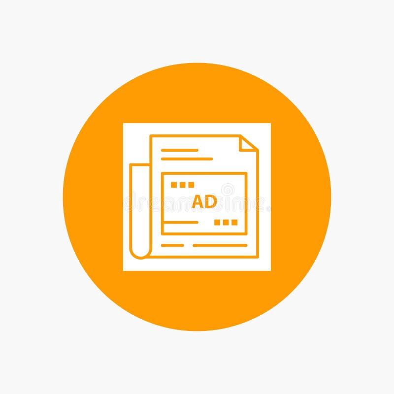Giornale, annuncio, carta, titolo illustrazione vettoriale