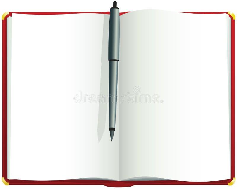 Giornale in bianco rosso illustrazione vettoriale
