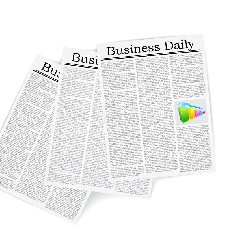 Giornale di affari royalty illustrazione gratis