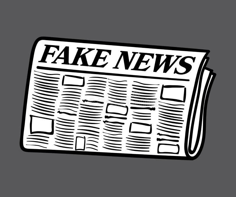 Giornale falso di notizie, bianco riempito ed isolato su fondo royalty illustrazione gratis