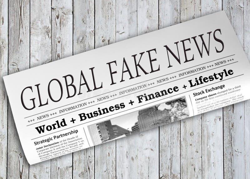 Giornale falso globale di notizie immagine stock