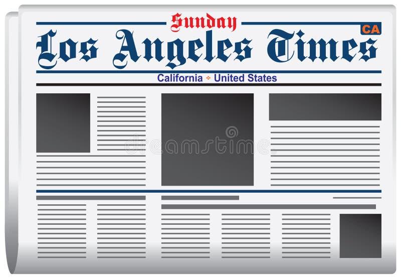 Giornale Los Angeles Times illustrazione di stock
