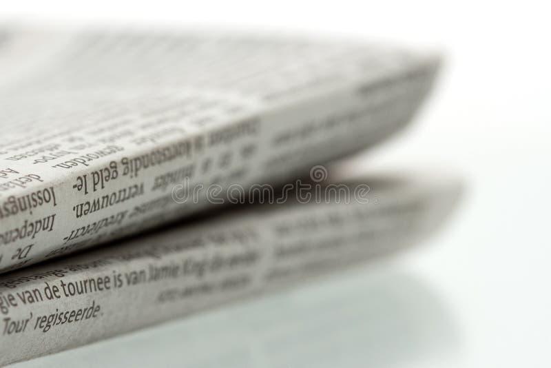 Giornale piegato 1 fotografia stock libera da diritti