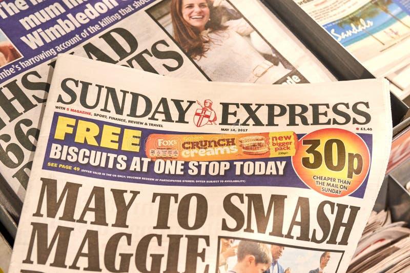 Giornale preciso di domenica immagine stock