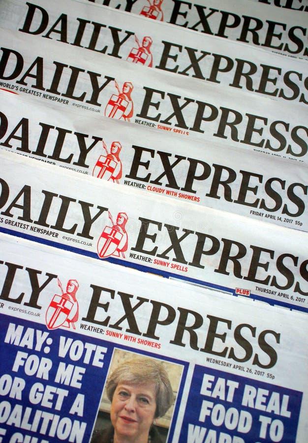 Giornale preciso quotidiano fotografia stock libera da diritti