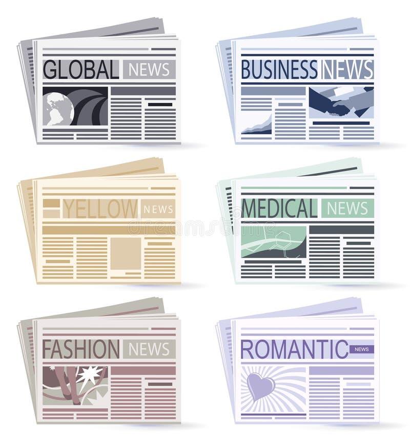 Giornali illustrazione vettoriale