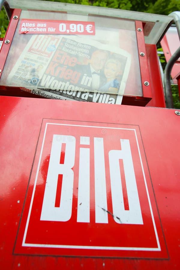 Giornali di Bild immagine stock libera da diritti