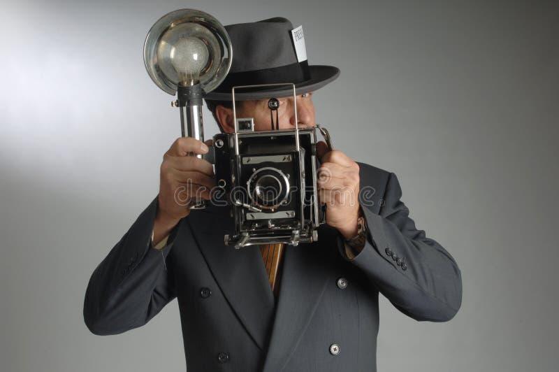 Giornalista fotografico immagine stock