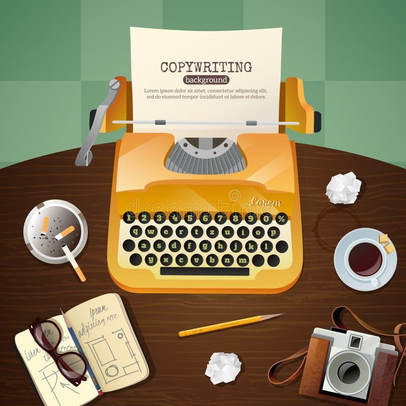 Giornalista Vintage Typewriter Illustration illustrazione vettoriale