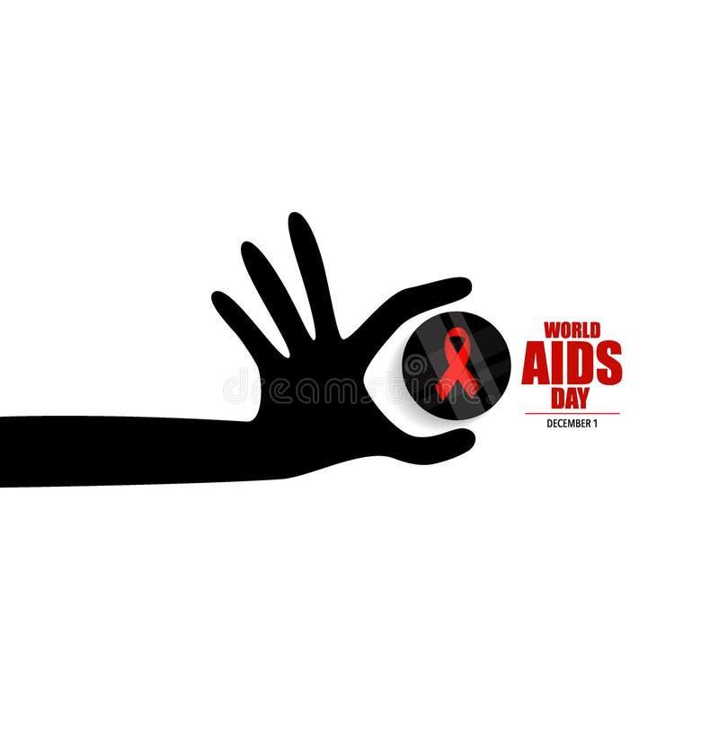 Giornata mondiale contro l'AIDS 1° dicembre manifesto di Giornata mondiale contro l'AIDS Illus di vettore illustrazione vettoriale