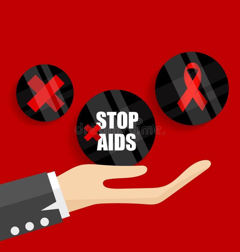 Giornata mondiale contro l'AIDS 1° dicembre manifesto di Giornata mondiale contro l'AIDS Illus di vettore illustrazione di stock