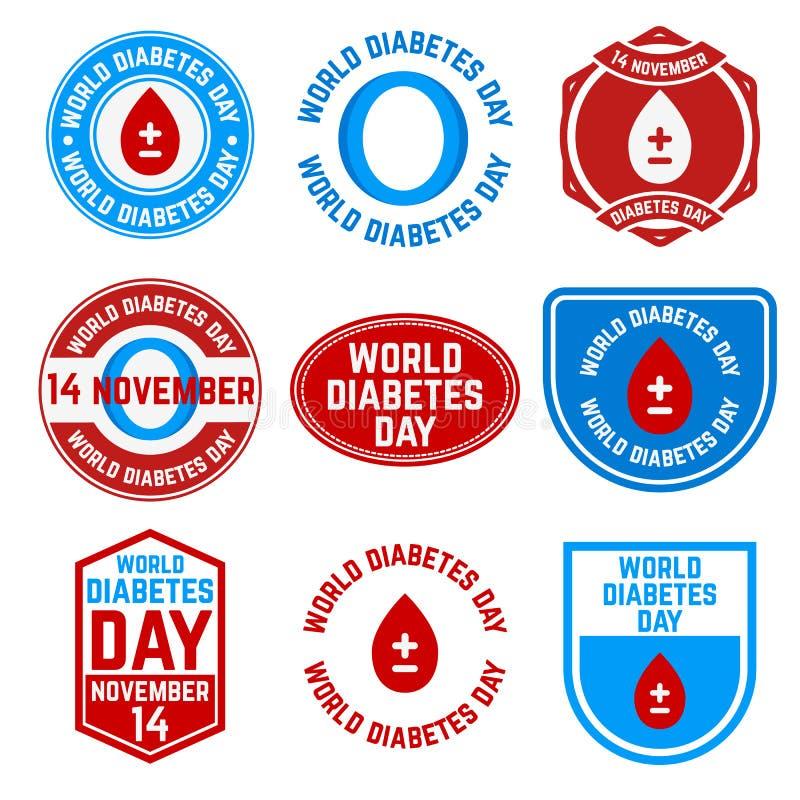 Giornata mondiale del diabete illustrazione vettoriale