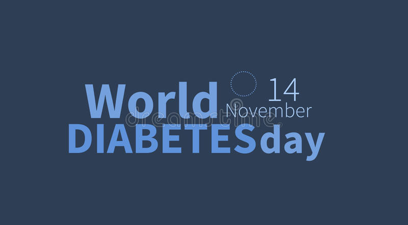 Giornata mondiale del diabete, il 14 novembre insegna immagini stock