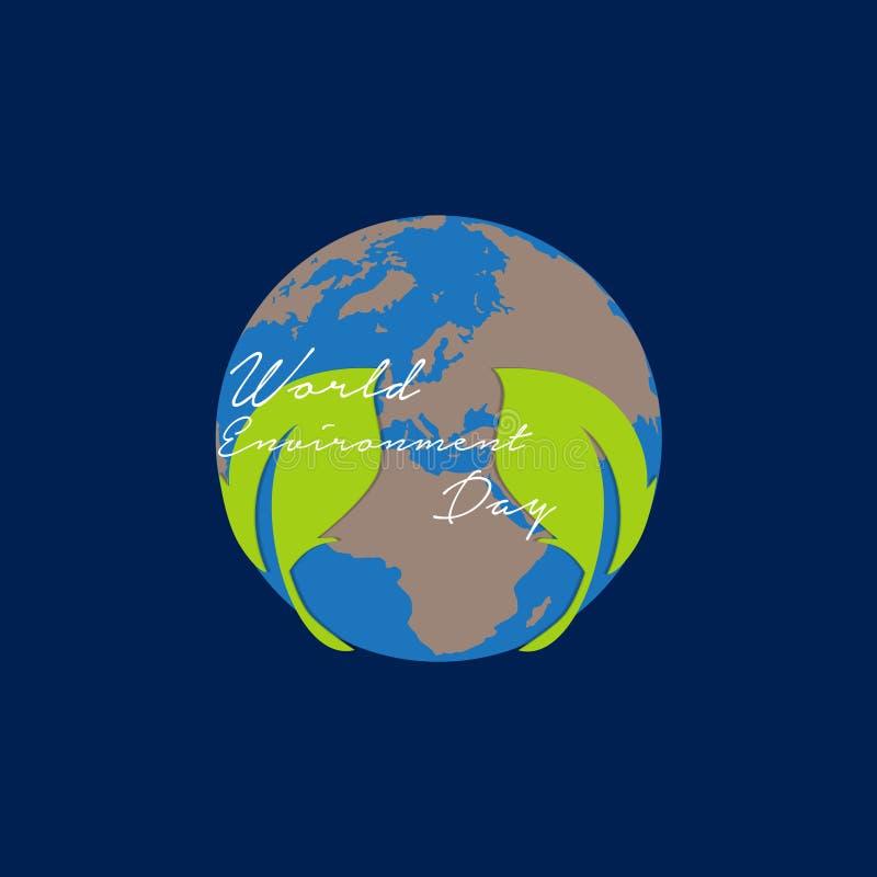 Giornata mondiale dell'ambiente per terra verde illustrazione di stock