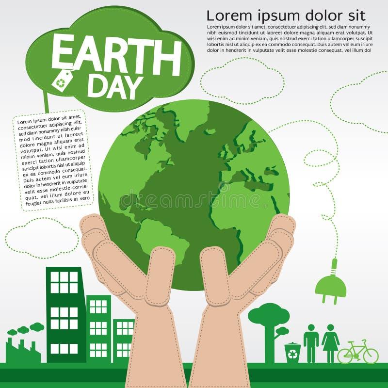 Giornata per la Terra. royalty illustrazione gratis