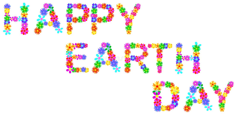 Giornata per la Terra felice illustrazione vettoriale