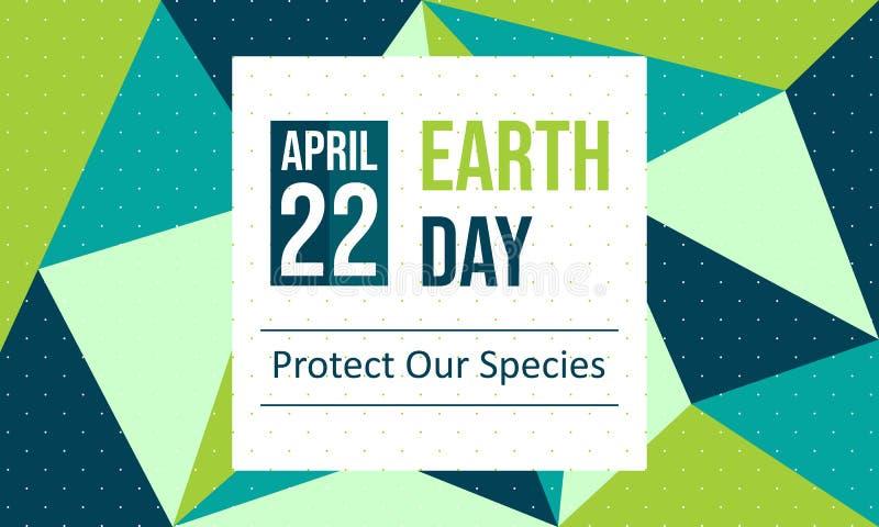 Giornata per la Terra felice - vettore illustrazione di stock