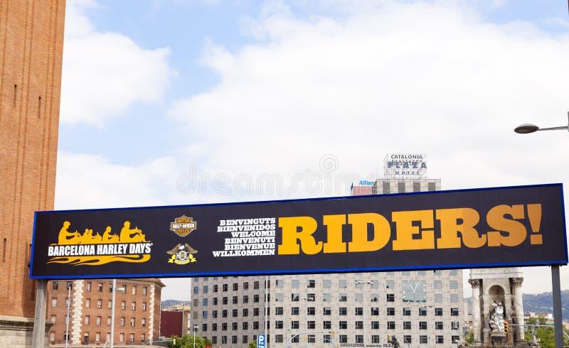 Giorni 2012 di Barcellona Harley immagini stock libere da diritti