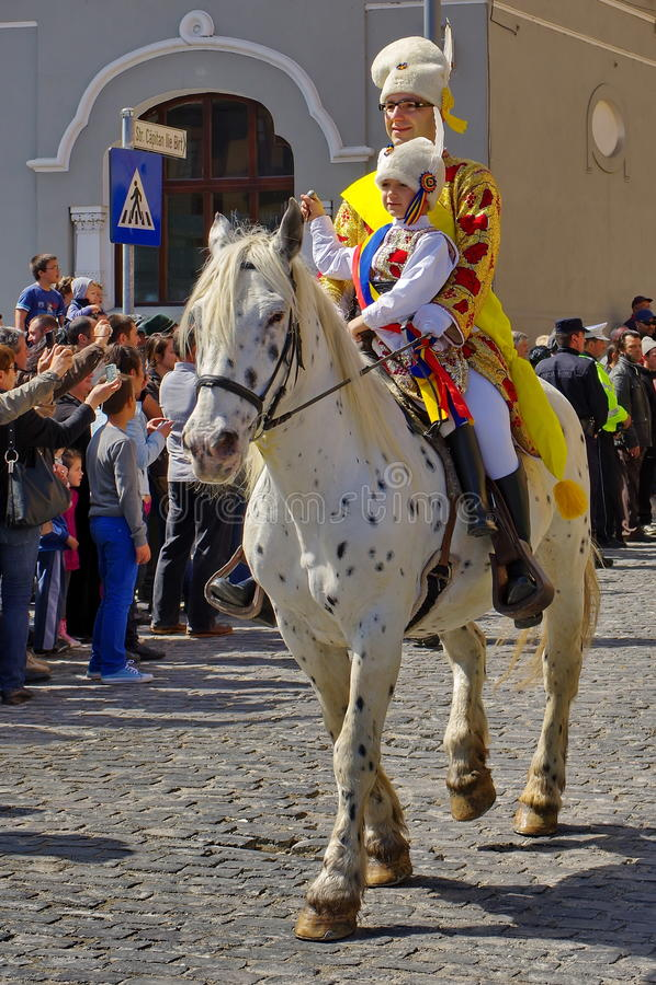 Giorni di celebrazione della città di Brasov fotografia stock libera da diritti