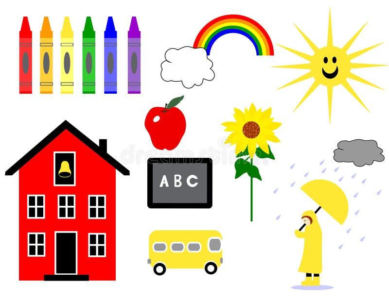 Giorni di scuola in anticipo royalty illustrazione gratis